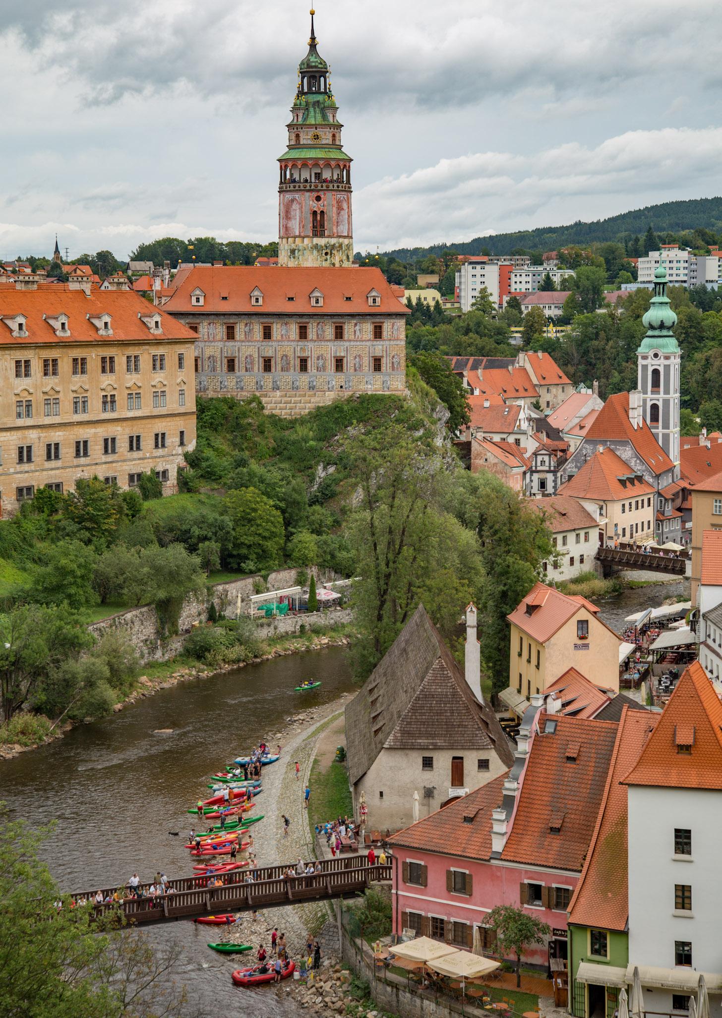 Český Krumlov lijkt wel op een plaatsje uit een sprookjesboek.